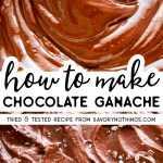 Pin da imagem do chocolate de Ganache
