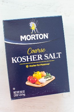 Morton kosher salt para Honey Lemon Salmon