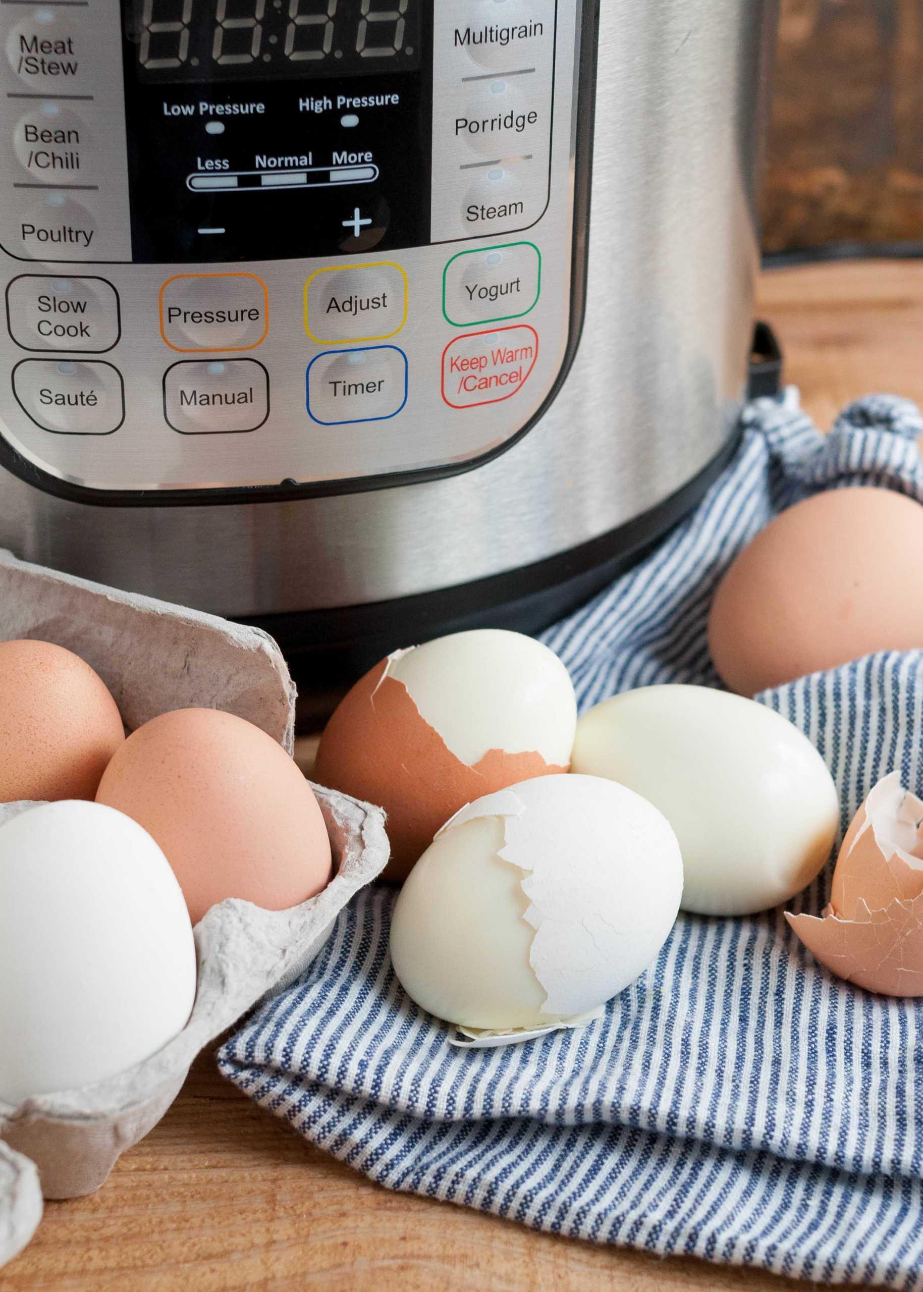 Huevos duros instantáneos