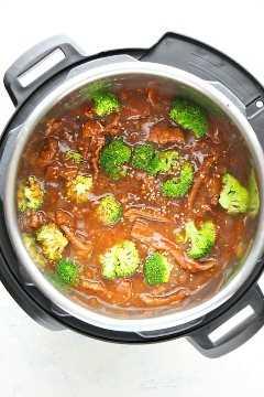 Instant Pot beef y brócoli Aa Instant Pot Beef y brócoli