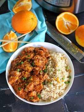 Instant Pot Orange Chicken é mais saudável do que comida para viagem e fácil de fazer com seu Instant Pot.