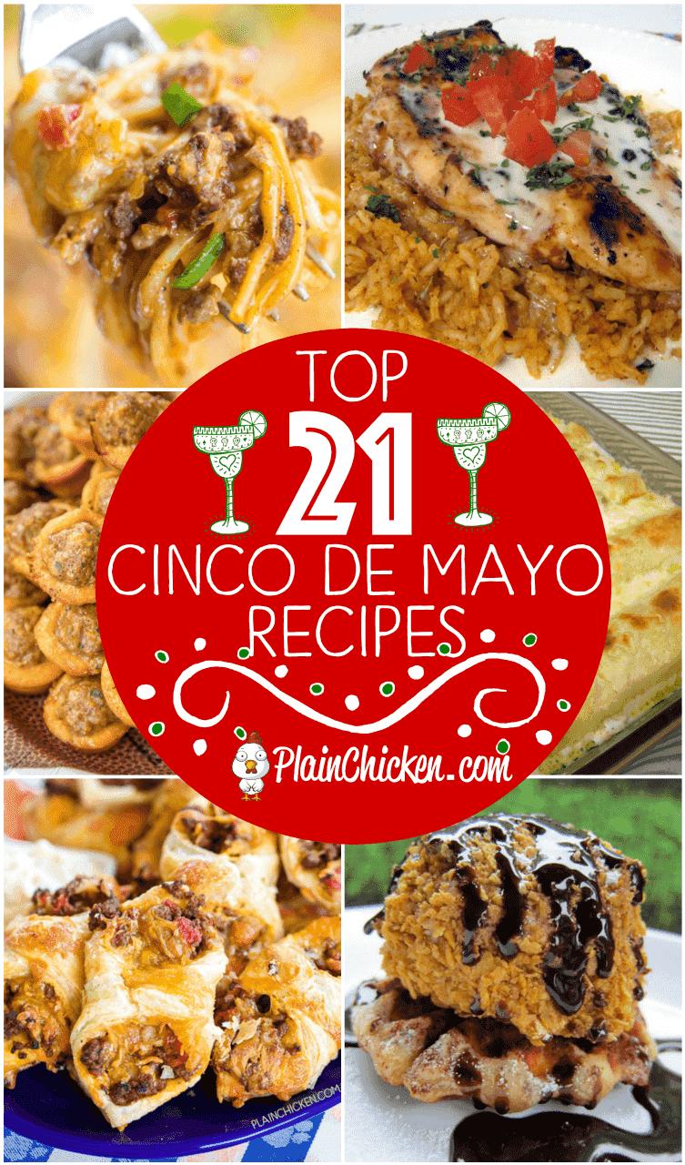 Las 21 mejores recetas del Cinco de Mayo: recetas para celebrar el 5 de mayo. ¡Salsas, aperitivos, platos principales, guarniciones y postres! Algo para todos. ¡Puede preparar la mayoría de las recetas con anticipación para una fiesta sin estrés! #cincodemayo # mexicano #partyfood