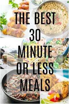 As melhores refeições de 30 minutos ou menos