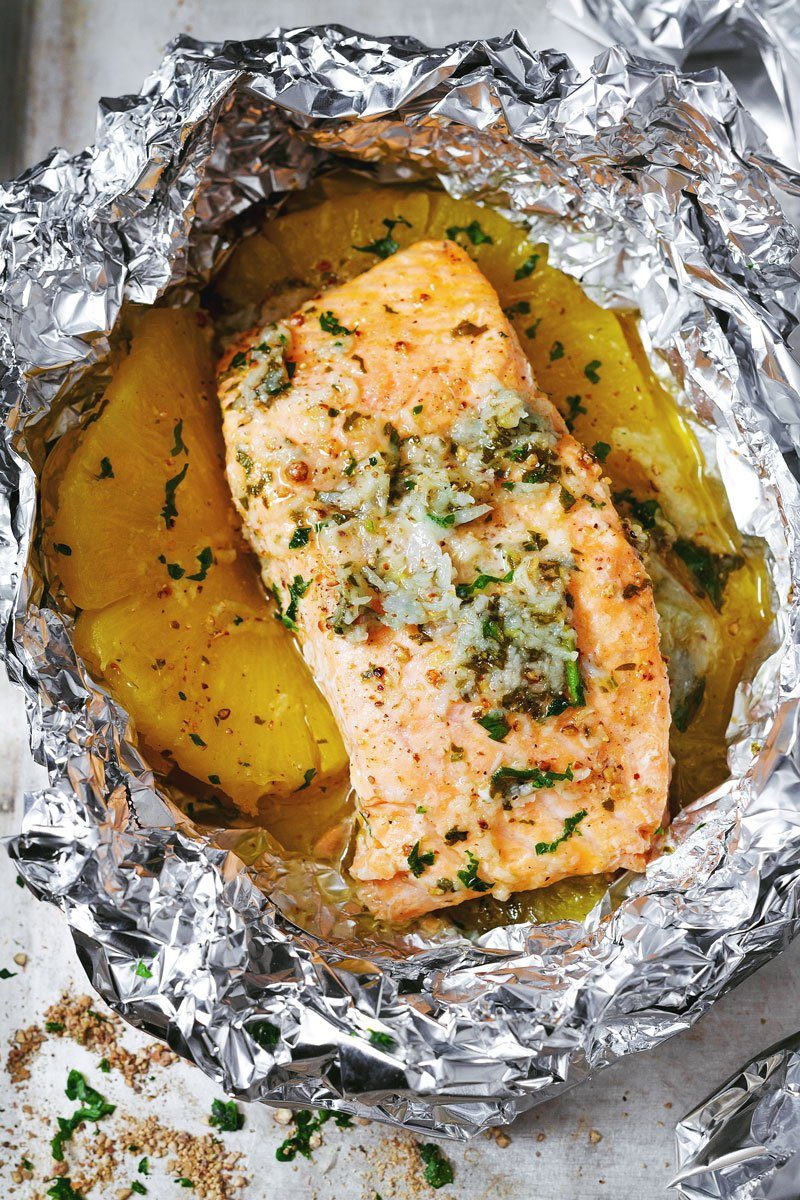 Honey Garlic Lemon Butter Salmon
