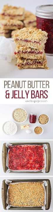 ¡Estas crujientes y dulces barras de mantequilla de maní y mermelada son el refrigerio perfecto después de la escuela! ¡Son tan fáciles de hacer y totalmente deliciosos!