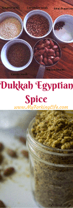 Dukkah mix of Egyptian spices. Perfect spice mix for poultry, meat and vegetables. dukkah spice.