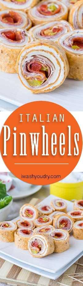 Estes cata-ventos italianos super saborosos são um ótimo lanche ou perfeito para almoços escolares!