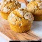 imagen de título de muffins de queso crema de calabaza