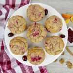 Muffins de salsa de arándanos y nueces – sin ceto / bajo en carbohidratos / sin gluten
