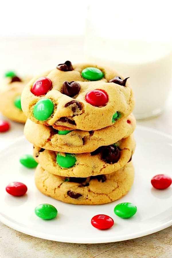 Christmas MM Cookies C Christmas M&M Cookies