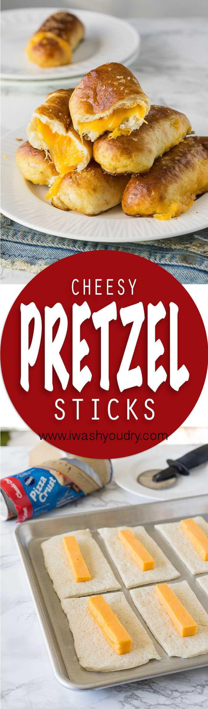 Estos palitos de pretzel con queso son pretzels suaves rellenos de queso y solo 5 ingredientes simples. ¡Listo en menos de 20 minutos!