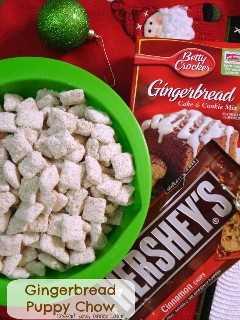 Gingerbread Puppy Chow é o lanche perfeito para férias com apenas 5 ingredientes!