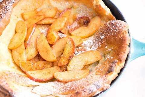 Receita holandesa de panqueca de maçã