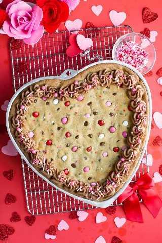 Pastel De Galletas De San Valentín