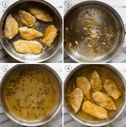 Procese tomas para mostrar los pasos en la preparación de la receta de pollo