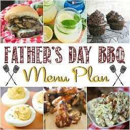 Plano de menu de churrasco de dia dos pais