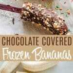 Imagen de pin de plátanos congelados de chocolate