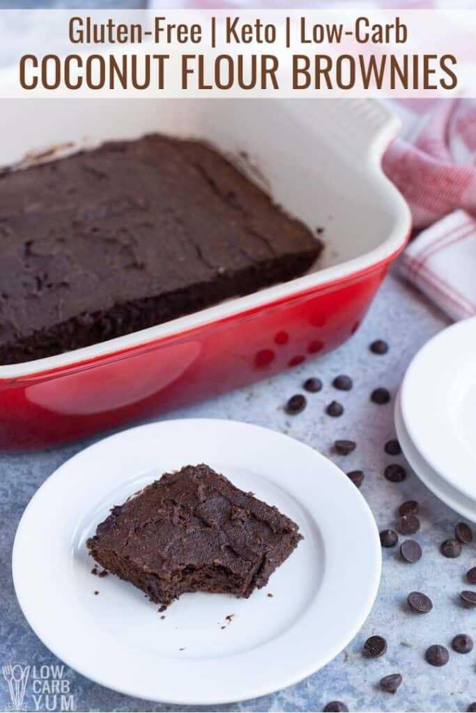 receita de brownies de farinha de coco