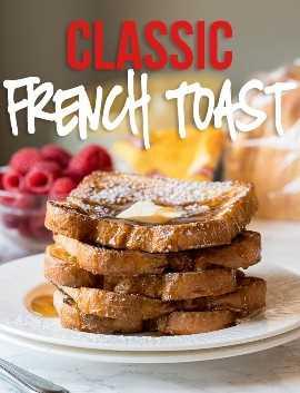 ¡Esta receta de mantequilla tostada francesa clásica fue absolutamente perfecta! ¡A toda mi familia le encanta este desayuno especial para el desayuno de la mañana!