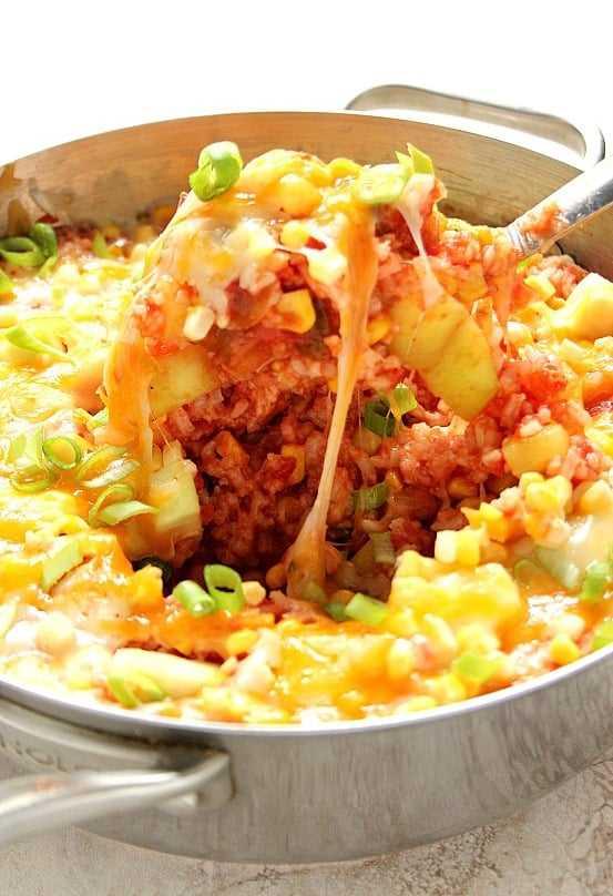 arroz com queijo 1a Arroz com molho de queijo com abobrinha e receita de milho