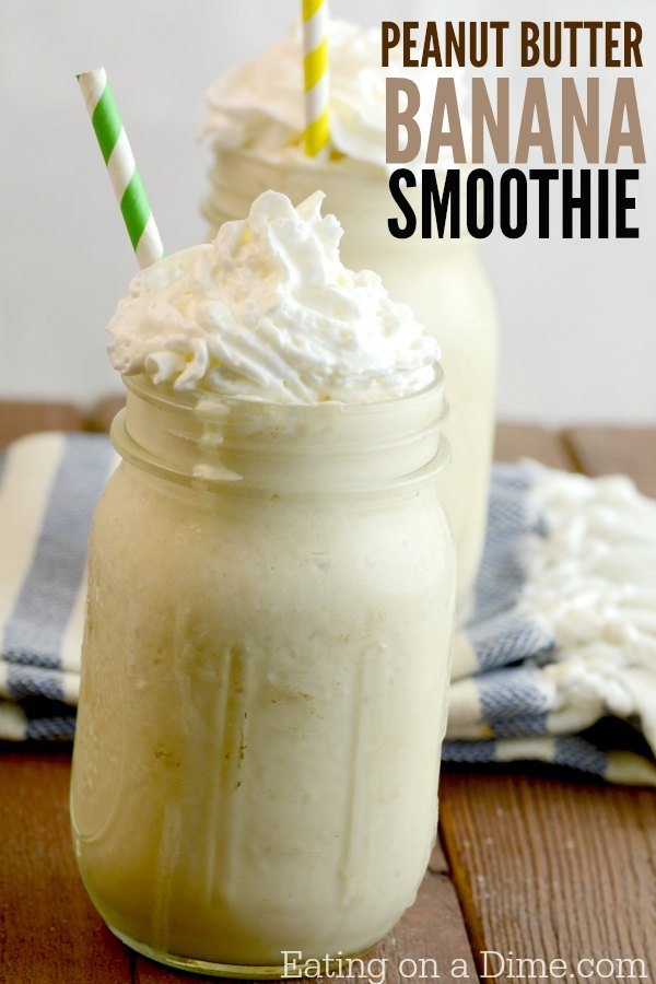 Try this delicious banana smoothie and peanut butter recipe. This almond, banana, and peanut butter milk shake is delicious and super easy to make. With a few changes and you can also make the Banana Peanut Butter Greek Yogurt Smoothies recipe. Either way, they are delicious!