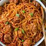 Receta de espagueti y albóndigas (VIDEO)