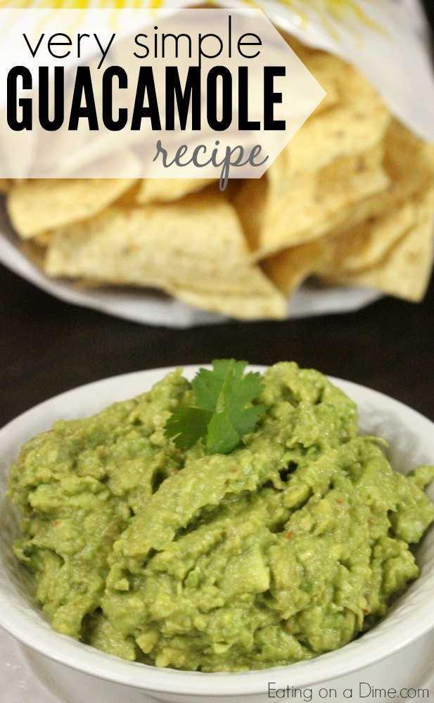 receita guacamole muito simples