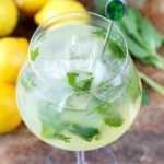 Receta de limonada de menta (baja en azúcar)