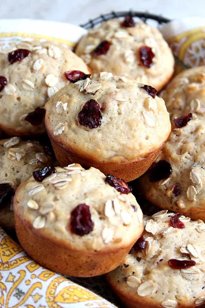 magdalenas de manzana y craisina 3 Receta de magdalenas de manzana y avena y arándano