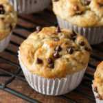 Receta de muffins de chispas de chocolate y plátano