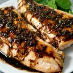 Receta de salmón glaseado balsámico para dos