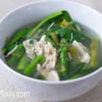 Receta de sopa de pollo con espárragos