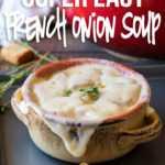 Receta fácil de sopa de cebolla francesa