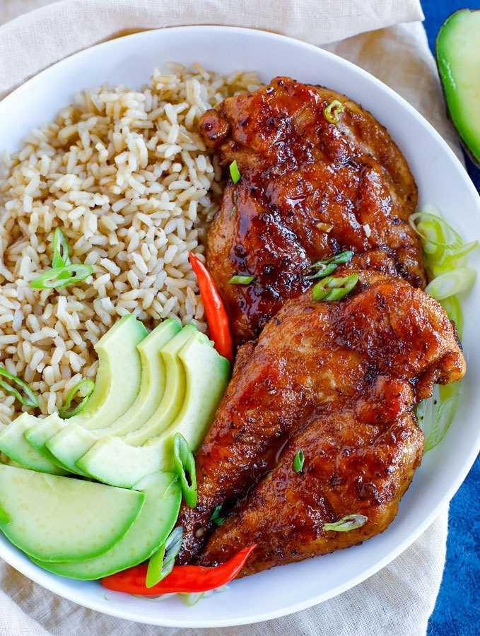 receita fácil de frango pegajoso