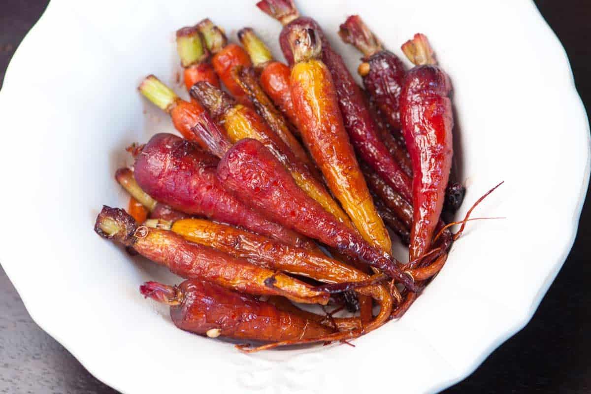 Receta fácil de zanahorias glaseadas con granada
