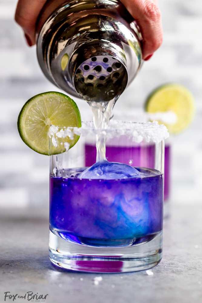 Receita mágica de Margarita que muda de cor