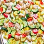 Sábana de verduras y pollo de verano