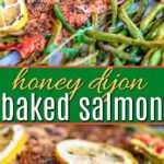 collage de pinterest salmón al horno
