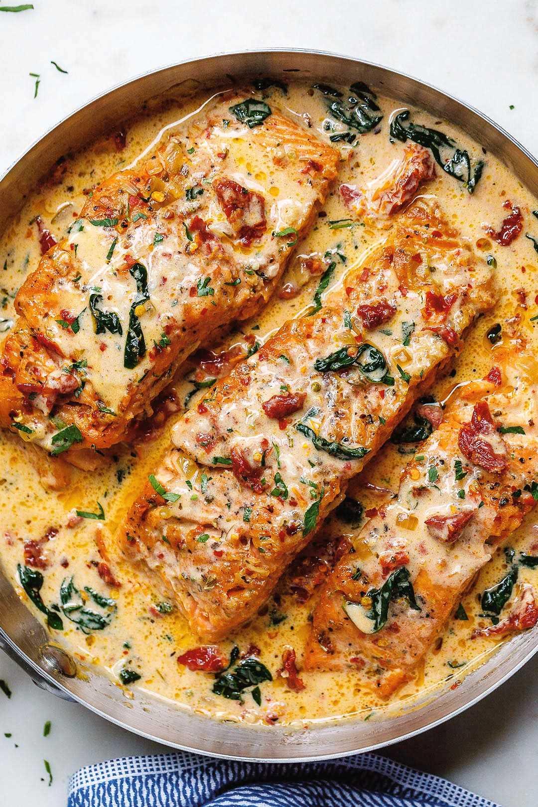 receita cremosa de salmão