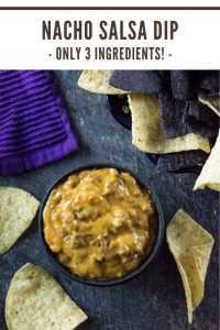 Receita de molho Nacho com apenas três ingredientes simples! Este é um lanche fácil para a festa. #nacho #salsa # aperitivo