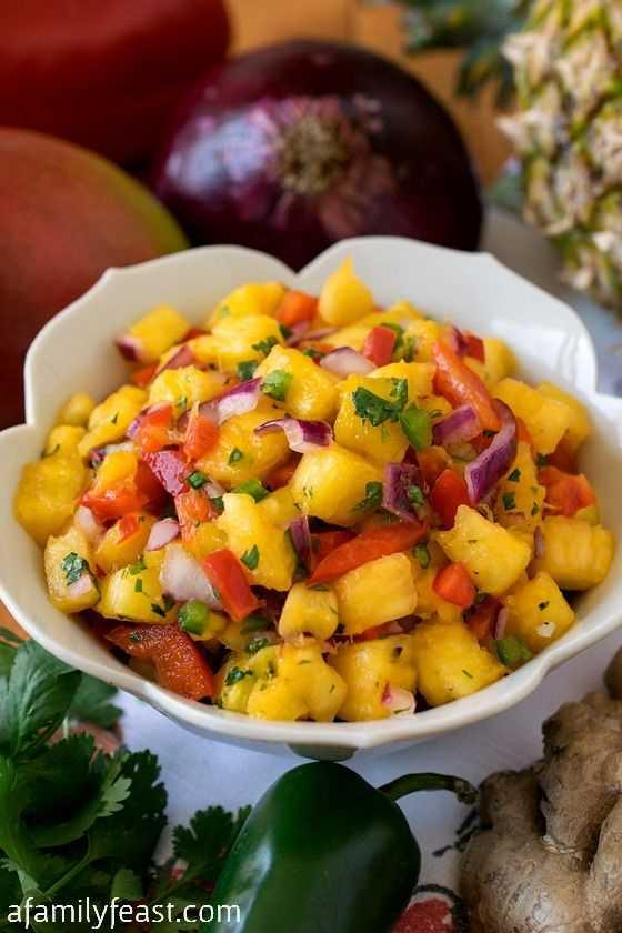 Molho de abacaxi e manga: fácil de fazer e super delicioso! Você fará esta receita repetidamente!