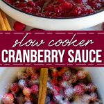 crockpot molho de cranberry pinterest colagem