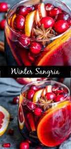 Esta receta fácil para la sangría de vino tinto de invierno está hecha con vino tinto, especias cálidas como canela, clavo y anís estrellado, y el brillante sabor cítrico de pomelo y naranja. Es un hermoso cóctel navideño adornado con semillas de granada y arándanos frescos. Agregue un poco de agua con gas para uno de los MEJORES cócteles de invierno para Navidad o Año Nuevo. #christmas #cocktails #newyearseve #sangria #sangriarecipe #christmascocktails #homemadeinterest