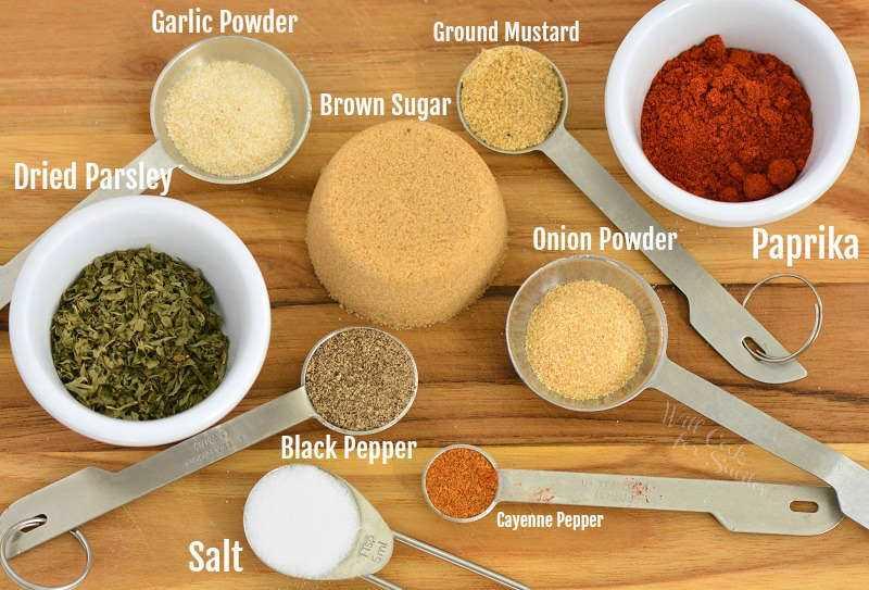 ingredientes para sazonar carne de cerdo