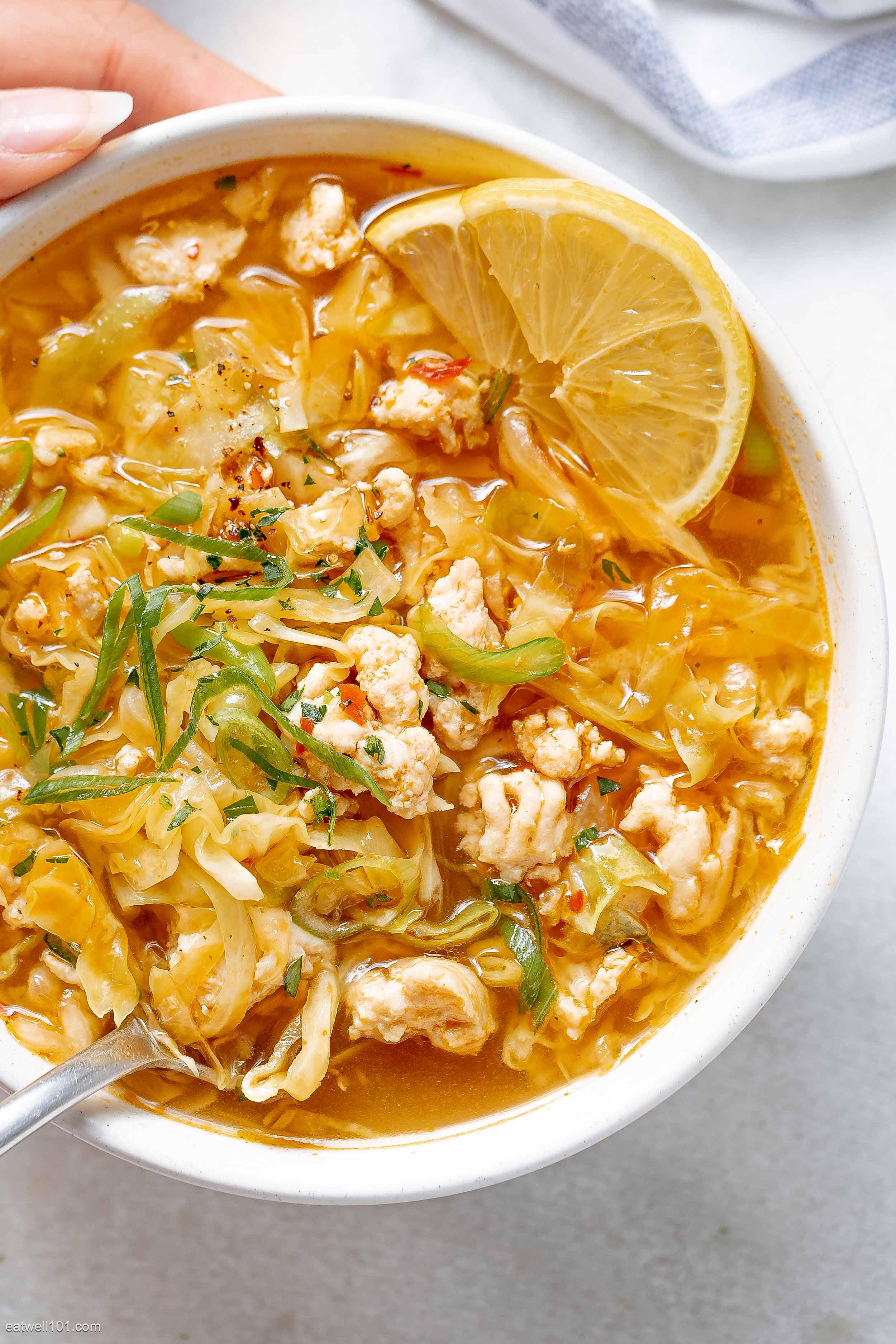 receta de sopa de rollo de huevo de pavo