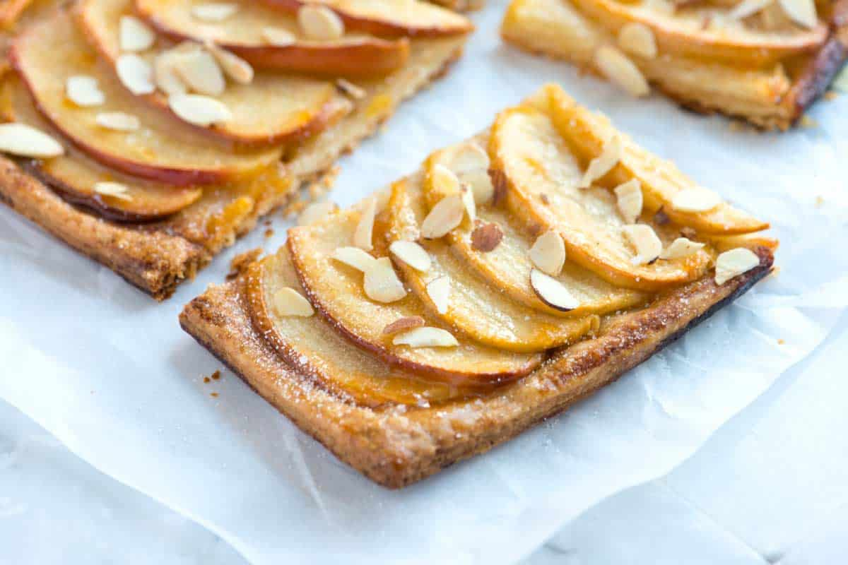 Receta simple de tarta de manzana