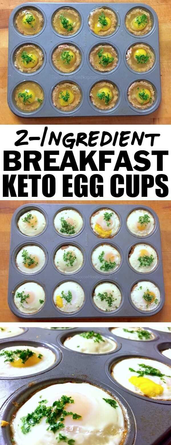 ¡Date un impulso de energía para comenzar el día con estas tazas de huevo Keto llenas de proteínas! ¡Solo 2 ingredientes simples y listos en 20 minutos!