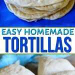collage de tortillas caseras