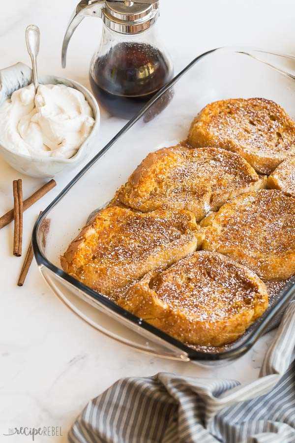 tostadas francesas de calabaza al horno