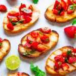 Tostadas a la Plancha con Salsa de Fresa, Menta Balsámica